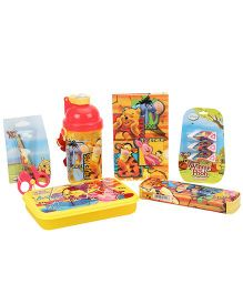 Winnie The Pooh School Kit Pack Of 6 - Red And Yellow