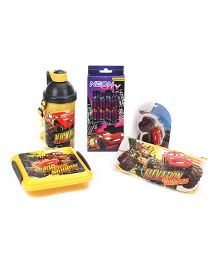 Disney Pixar Cars School Kit Pack Of 5 - Yellow & Black
