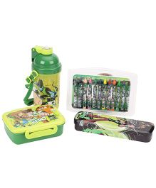 Ben 10 School Kit With Crayons Pack Of 4 - Green
