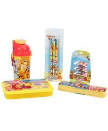 Winnie The Pooh School Kit Pack Of 5 - Yellow