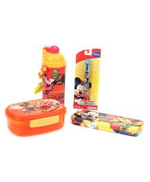 Disney School Kit Mickey Mouse Pack Of 4 - Yellow & Orange