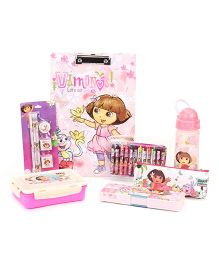 Dora the Explorer School Kit Pack of 7 - Pink