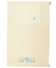 Baby Rap Elephant Friends 1 Cot Sheet And 1 Pillow Cover Set - Lemon