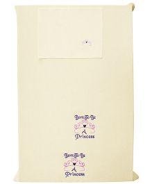 Baby Rap Princess 1 Cot Sheet And 1 Pillow Cover Set - Lemon