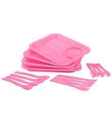 Dinner Picnic Set Pink - 16 Pieces