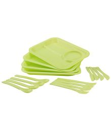 Dinner Picnic Set Green - 16 Pieces