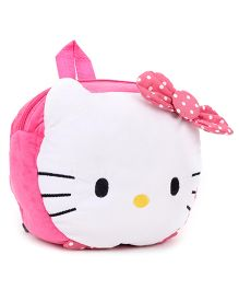 Hello Kitty Plush Bag Dark Pink & White - Height 8 Inches