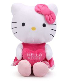 Hello Kitty with Heart Soft Toy - Pink