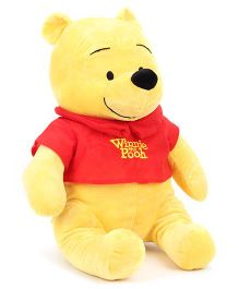 Disney Winnie The Pooh Soft Toy Yellow & Red - Height 17 Inches
