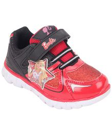 Barbie Casual Shoes Velcro Closure - Red Black