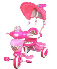 Funride Honey Bee Tricycle With Canopy - Pink