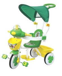 Funride Honey Bee Tricycle With Canopy - Green And Yellow