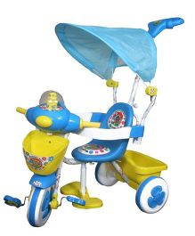 Funride Honey Bee Tricycle With Canopy - Blue