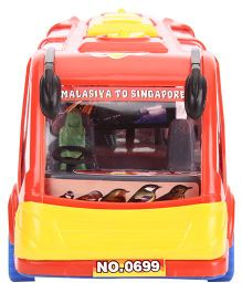 Kids Zone Friction Toy Rocky Tour Bus - Red