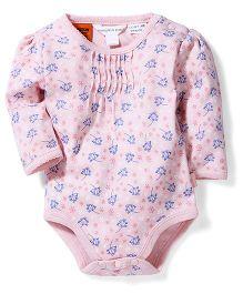 Pumpkin Patch Long Sleeves Bodysuit Snowflake Print - Pink