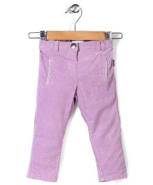 Pumpkin Patch Lupin Stretch Velvet Pant - Pink