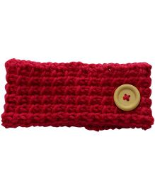 Button Hair Band - Red