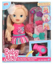 Funskool Baby Alive Play N Style Christina Doll - 32 cm