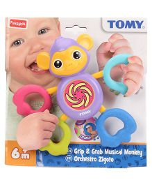 Funskool Tomy Grip And Grab Musical Monkey Toy