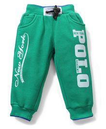 New York Polo Academy Soft Fleece Track Pants - Green