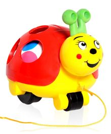 Giggles Twirlly Whirlly Turtle Buggy - Red And Yellow