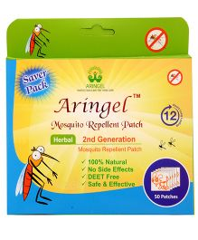 Aringel Second Generation Herbal Mosquito Repellent Patch - 50 Patches