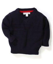 Pumpkin Patch V Neck Sweater - Night Blue