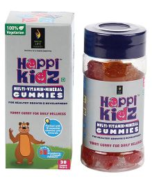 Happi Kidz Multivitamin And Mineral Gummies - 30 Gummy Bears