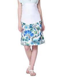 Mamacouture Maternity Blue Printed Skirt