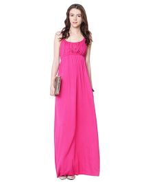 Mamacouture Pink Maxi Maternity Dress