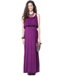 Mamacouture Plum Maxi Maternity Dress