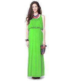 Mamacouture Green Maxi Maternity Dress