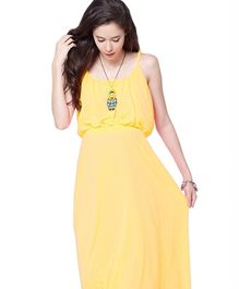 Mamacouture Yellow Maxi Maternity Dress