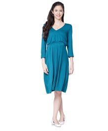 Mamacouture Maternity Green Work Wear Dress
