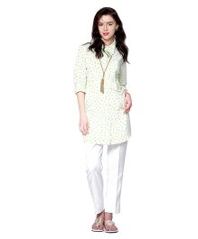 Mamacouture Maternity Tunic -  White & Green