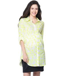 Mamacouture Maternity Tunic Yellow Neon Cycles