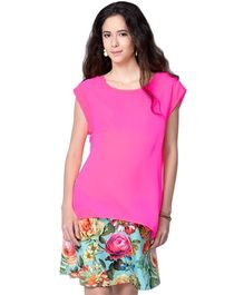 Mamacouture Maternity Pink Sleeveless Top