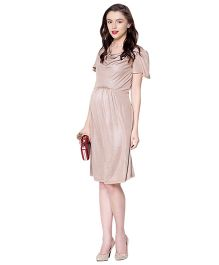 Mamacouture Maternity Golden Kowl Dress