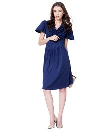 Mamacouture Maternity Navy Blue Office Dress