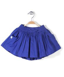 Pumpkin Patch Pleated & Gathered Skirt - Blue