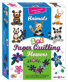 Ekta 2 In 1 Animals and Flowers Paper Quilling