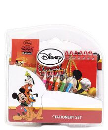 Mickey Mouse and Friends  Coloring Stationary Set - 5 Color Pencils