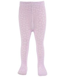 Pumpkin Patch Footed Stocking Tights - Light Mauve