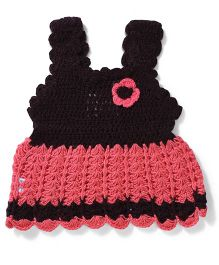 Rich Handknits Sleeveless Sweaters - Pink & Black