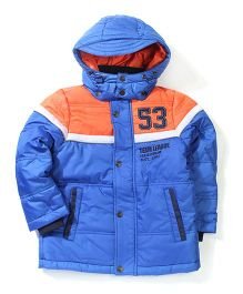 Sela Full Sleeves Hooded Jacket 53 Patch - Royal Blue