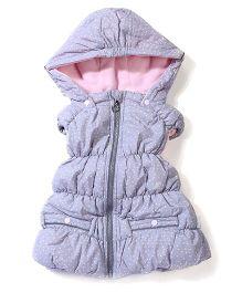 Sela Hooded Jacket Polka Dots - Grey