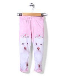 Pumpkin Patch Leggings Puppy Print - Pink