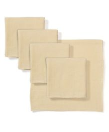 Babyhug Square Muslin Nappy Set Large Pack Of 5 - Peach