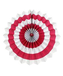 Prettyurparty Stripes Paper Fans - Dark Pink