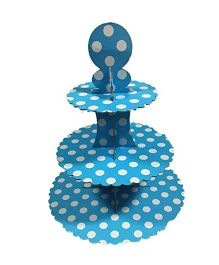 PrettyurParty Blue Polka Dots Cupcake Stands